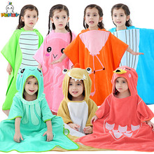 MICHLEY Baby Bathrobes Girls Hooded Summer Pajamas Boys Red Six Types Cartoon Breathable Cut Pile Material Childrens Towel WEP