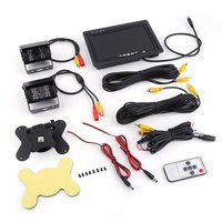 Top Quality 2PCS 640*480 Infrared Night Vision Wire Rearview Backup Reverse Camera + 7 Inch Car Rear View Monitor Set