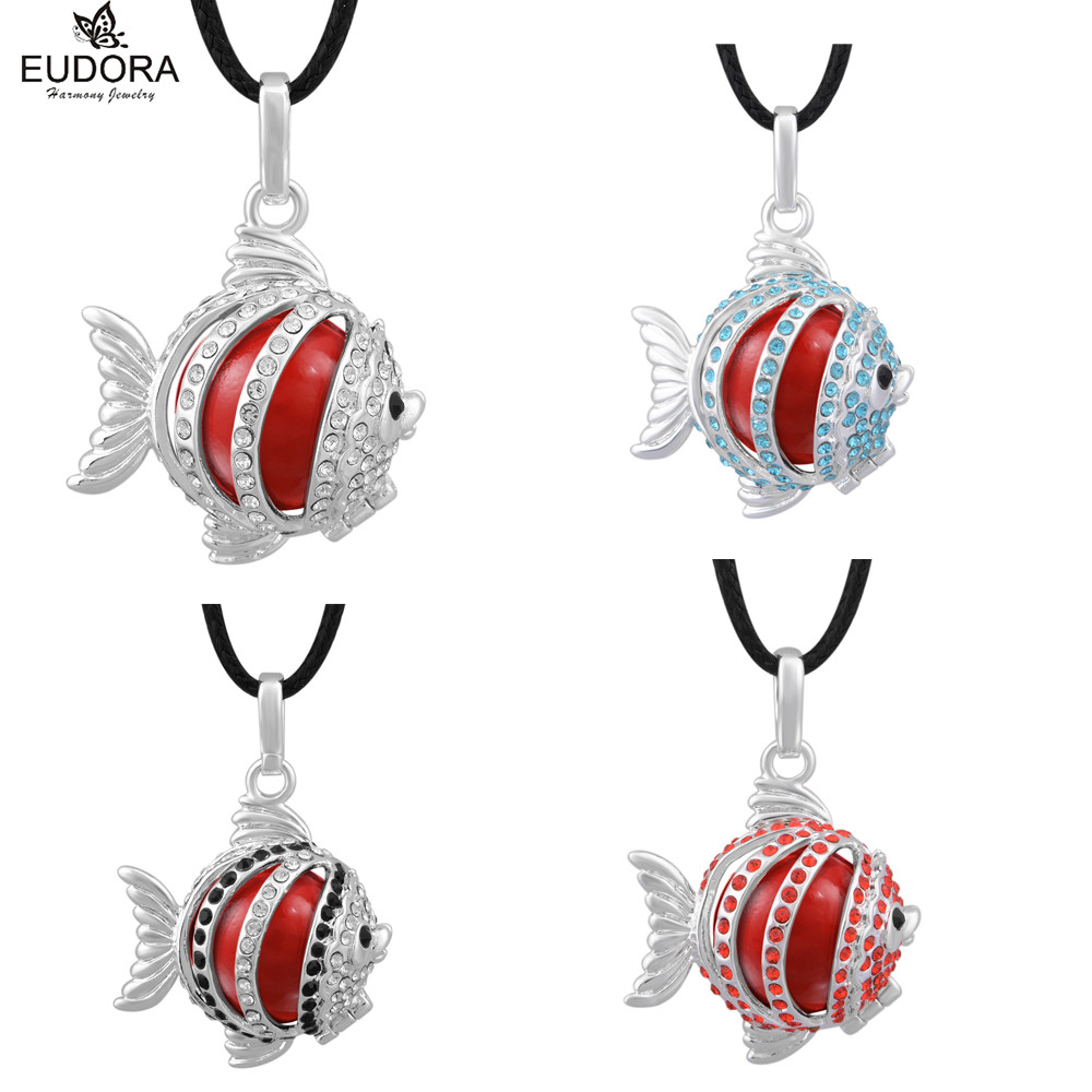Pregnancy Women Copper Metal Belly Bola Cage Pendant with Crystal Musical Harmony Bola Ball Chimes Sound Angel Baby Pendant