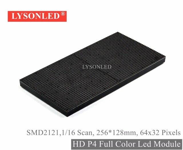 Lysonled 2017プロモーションhd p4屋内Smd2121フルカラーledディスプレイモジュール256*128ミリメートル、1/16スキャン屋内p4 rgb ledモジュール64 × 32