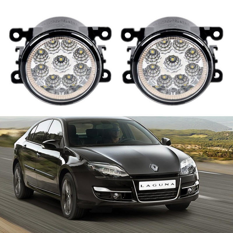 Car-Styling For Renault Laguna 3 BT 2007-2015 9-Pieces Led Fog Lights H11 H8 12V 55W Fog Head Lamp for renault laguna 2 ii grandtour kg0 1