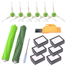 Roller brush Filter Side Kits for iRobot Roomba i7 i7+ / Plus E5 E6 E7 Vacuum Cleaner Robot Parts
