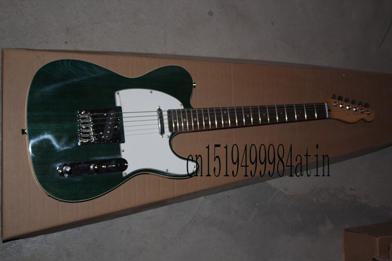 Free Shipping wholesale high quality New TELE Variegated dark green Guitars Telecaster Electric Guitar in stock @15 new electric guitar strings chrome tele neck pickup telecaster