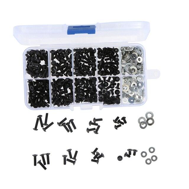 340 pièces universel vis boîte ensemble pour 1/10 RC chenille HSP Redcat Traxxas TAMIYA CC01 Axial SCX10 HPI