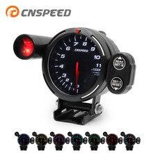 CNSPEED, Автомобильный Тахометр, цветной, 80 мм, Высокоскоростной шаговый двигатель, измеритель-11000, с конверсионной лампой, Предупреждение, автомобиль YC101357