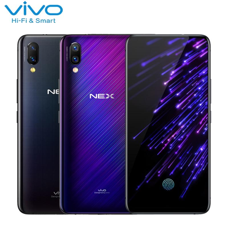Vivo Nex Écran D'empreintes Digitales Téléphone 6.59 Plein Écran 6g/8g RAM 128g ROM Snapdragon710 Octa core Auto-Caméra élevée Smartphone