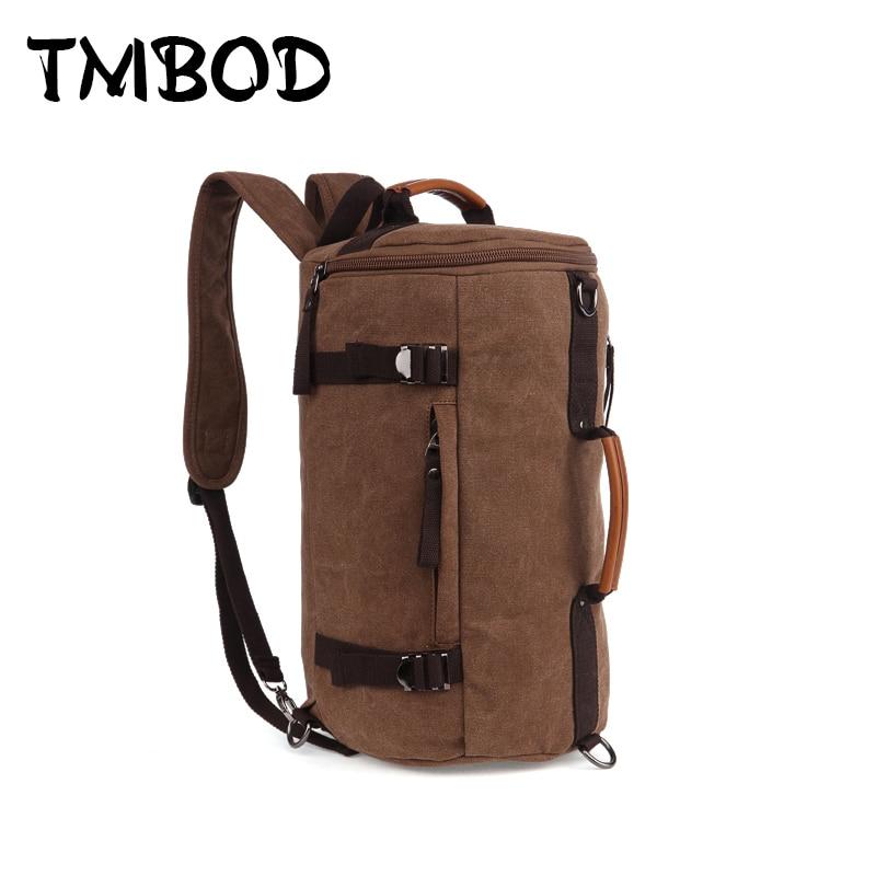 Naujos 2019 vyrų statinės formos kuprinė vyriškoms drobėms Kelionės krepšys Aukščiausios kokybės daugiafunkcinis priežastinis krepšelio krepšys Bolsa an473