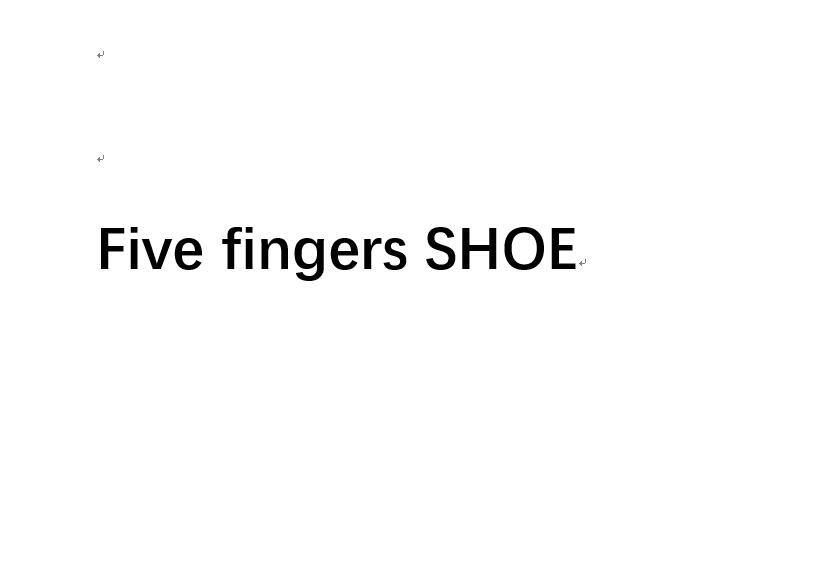 Cinq doigts offre spéciale conception en caoutchouc avec cinq doigts antidérapant respirant léger chaussure pour hommes sacs à provisions