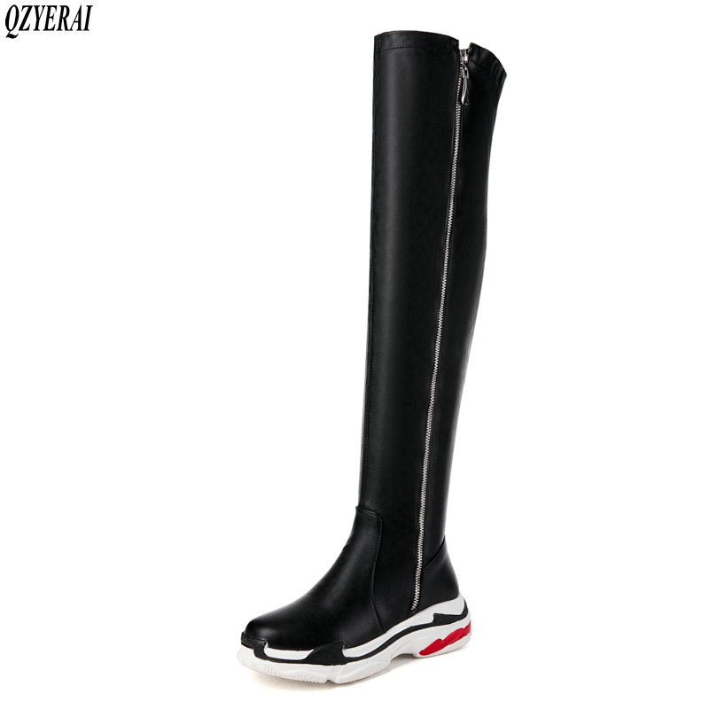 QZYERAI 2018 autumn and winter new style warm women boots over-the-knee fur women boots fashion leisure style women shoes fashion style