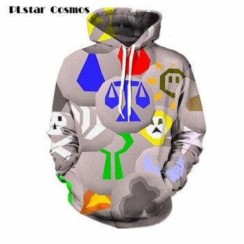 Runescape Runes 3D Ganzen Gedruckt Hoodies Taschen Sweatshirt Hipster Lustige Streetwear Männer Frauen größe S-5XL