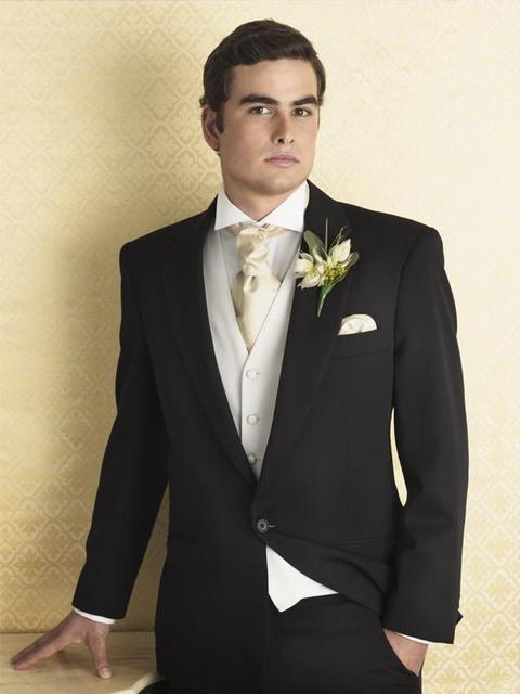 black men suits 3 pieces wedding suits for men white vest men ...
