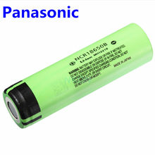 Panasonic 100% original brand new 3.7v 18650 3400mah lithium Rechargeable battery NCR18650B For Flashlights brakes computers(China)