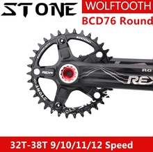 цена на Stone Chainring 76 BCD  for Round XX1 32T 34T 36T 38T 40T 42T Wolf Tooth MTB Bike Chainwheel Bicycle Tooth Plate for sram