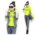Track suit Young women sportswear Winter clothes three-piece added hooded thick printing couture fashion  suits BN1711