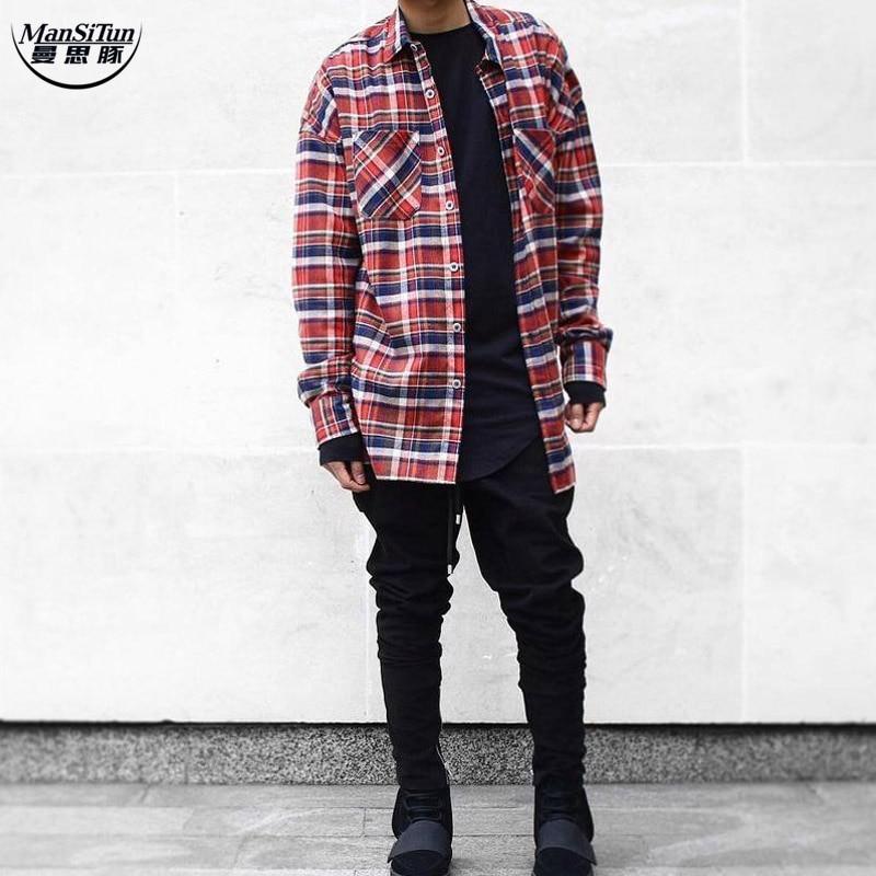 Man Si Tun 2017 US Hip Hop Most popular justin bieber FOG fog Men unisex  flannel 32dc32b2409c