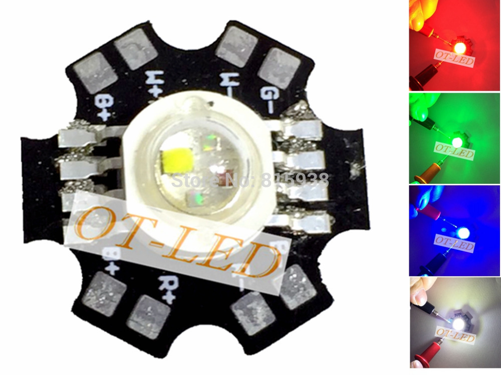 10PCS 4W 4*3W 12W RGBW RGB+White High Power Led Diode Chip Lamp Light Red Green Blue White with 20mm Star Base 10w 12w ultra violet uv 365nm 380nm 395nm high power led emitting diode on 20mm cooper star pcb