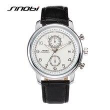 SINOBI 2016 Fashion Design Male Vintage Style Watches Waterproof Leather Strap Quartz Analogue Watch For Men Fashion Wristwatch