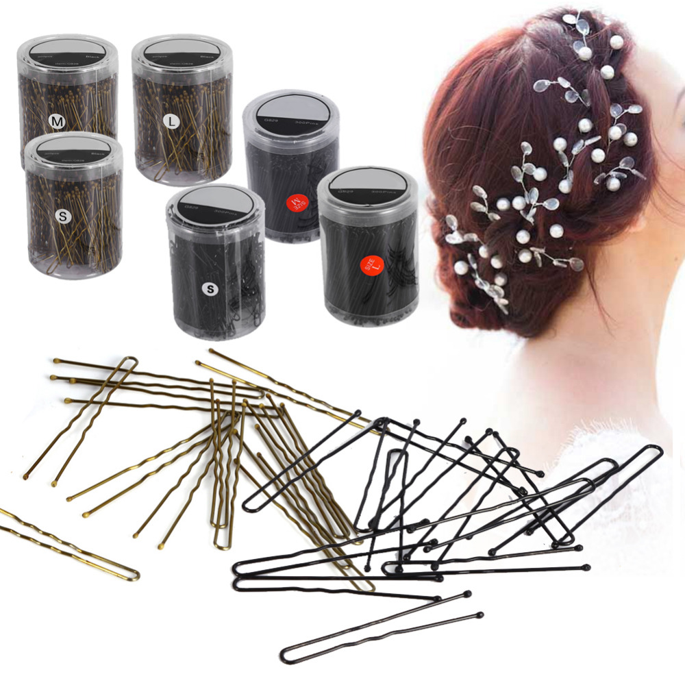 300Pcs U Shape Hair Clips for women Bobby Pins HairPins Hair Pins Barrette Accessories Hair Clip Studs Pro Metal pince cheveux 1pcs crystal bowknot hair clips for girls rhinestone decorattion hairpins styling tools barrette braiding accessories hair pins
