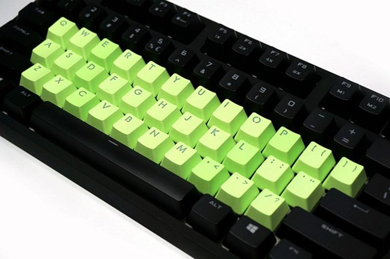 Cherry MX Keycap Backlight  PBT 37 Keys Plus ESC Double Shot Translucidus Backlit Keycaps  For Mechanical Gaming Keyboard