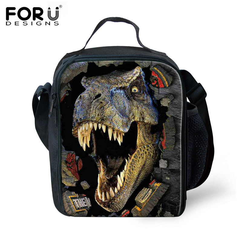 2016 Hot design dinosaur kids lunch-box lunch bags cool boys picnic thermal lunchbox children Insulated zoo lunch bag Xmas Gifts