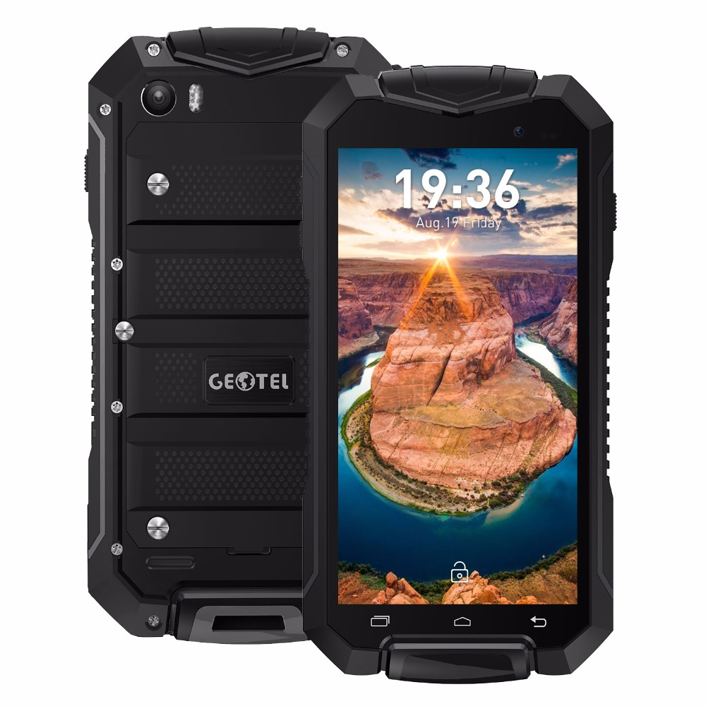Original Geotel A1 IP67 Waterproof Gorilla Glass Smartphone Android 7.0 MTK6580 M Quad Core 1.3GHz 1GB 8GB 3400mAh 3G cellphone
