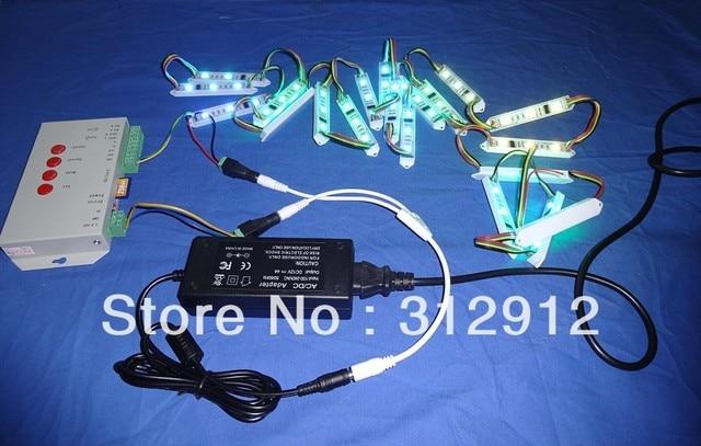 40pcs DC12V WS2801 pixel module,3pcs 5050 led+T-1000S sd card pixel controller+12V/4A power adaptor