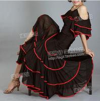 Flamenco dress costume Expansion skirt Flamenco dance costumes Spanish dance skirts