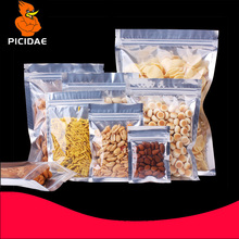 Aluminized hardware Granule clothing powder food Snack candy accessorie cosmetic liquid bag Packing Transparent zipper ziplock