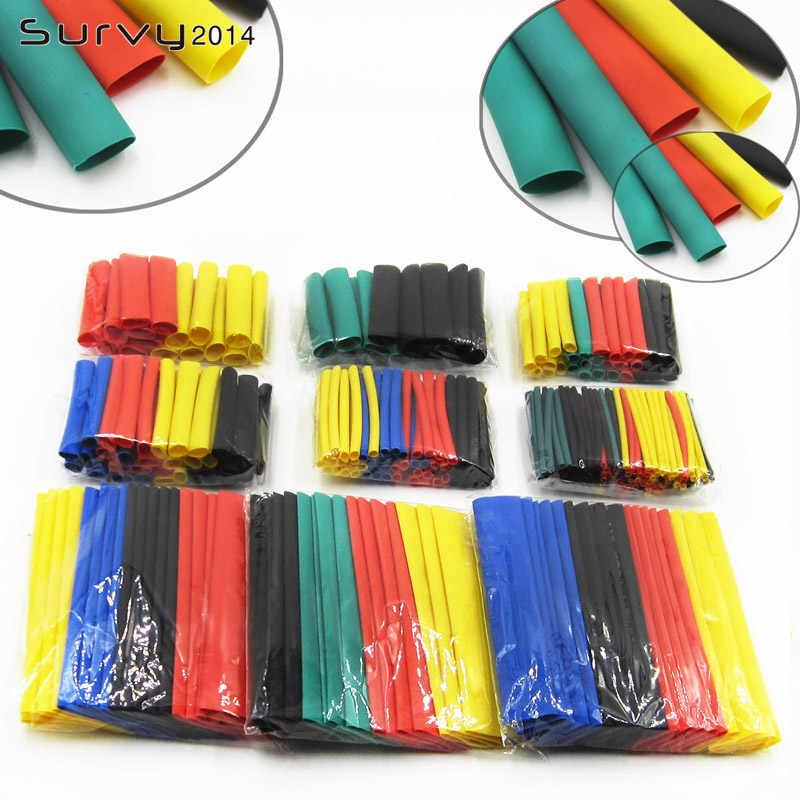 328Pcs Auto Elektrische Kabel Rohr kits Schrumpf Schlauch Schläuche Wrap Hülse Assorted 8 Größen Gemischt Farbe