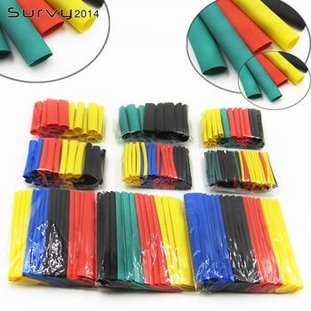 цена на 328Pcs Car Electrical Cable Tube kits Heat Shrink Tube Tubing Wrap Sleeve Assorted 8 Sizes Mixed Color