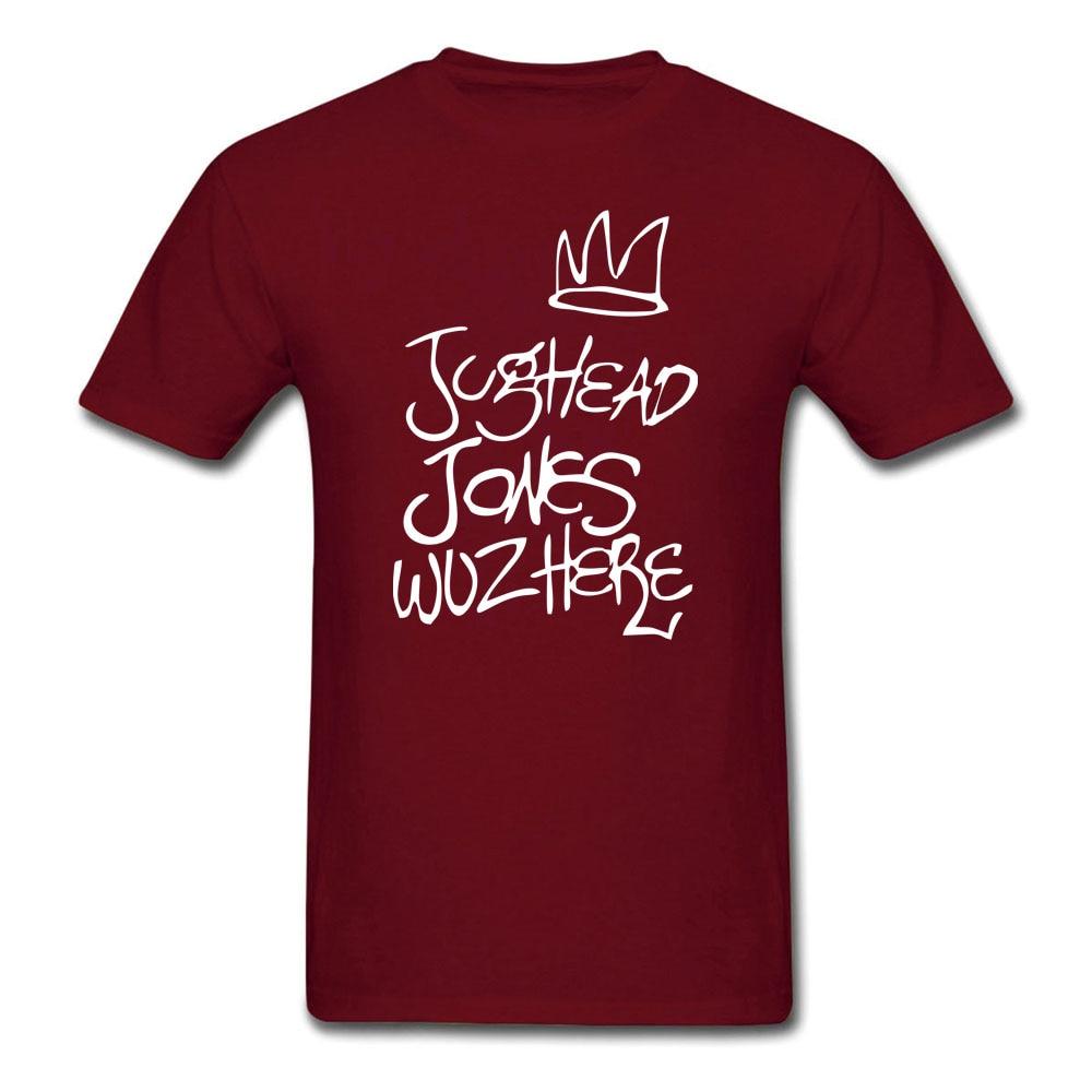 Riverdale Jughead Jones Wuz Here T-shirt Mens and Womens Cotton printing Shirt Big Size S-XXXL