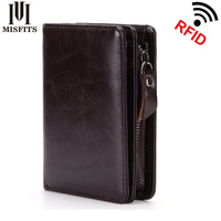2018 100 Genuine Leather Men Wallet Top Quality Oil Wax Leather Wallet Cowhide Real Leather Man