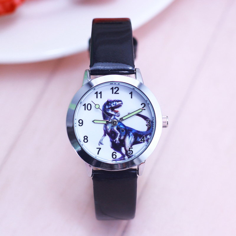 Watches Strong-Willed 2018 High Quality Children Boys Dinosaur Anime Cartoon Quartz Watches Little Kids Casual Luminous Hands Leather Wrist Watches Ture 100% Guarantee