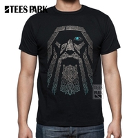 Men S T Shirt Valhalla Odin Vikings 100 Cotton Clothing Tops Short Sleeve Boy Crewneck T