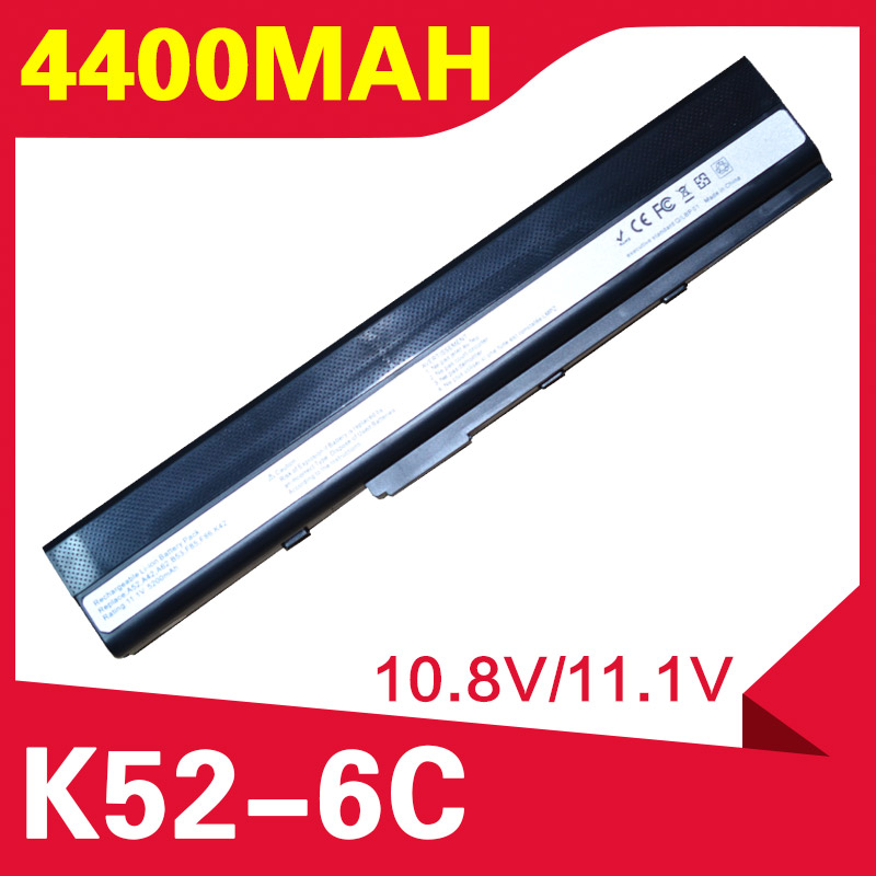 ApexWay 6 cell laptop battery for Asus A52F A52J K52D K52DR K52F K52J K52JC K52JE K52N X52J A32-K52 A41-K52 70-NXM1B2200Z image