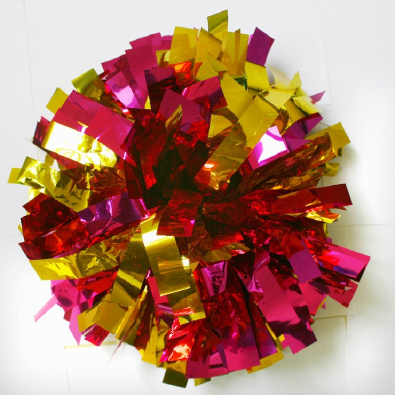 100g/pc,12pcs/lot,Cheerleading Pom Aerobics Show Dance Hand Flowers Sport Competition Poms Flower Ball Games Party Basketball