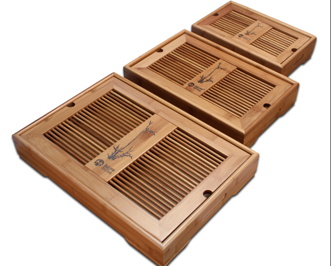 Containing Water Storage-type Tea Table A3888 Meticulous Dyeing Processes Charitable 1pc Bamboo Tea Tray Office Solid Wood Teaboard Bamboo Tray Kung Fu Tea Set