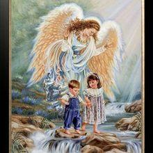 14CT Canvas Angels and Girls Cute Children Kids DMC Cross Stitch