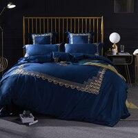 New arrivel 4/6pcs Luxury Egyptian cotton Bedding Set Mandal Bohemia style Bed set Embroidery duvet covers Soft Bedclothes