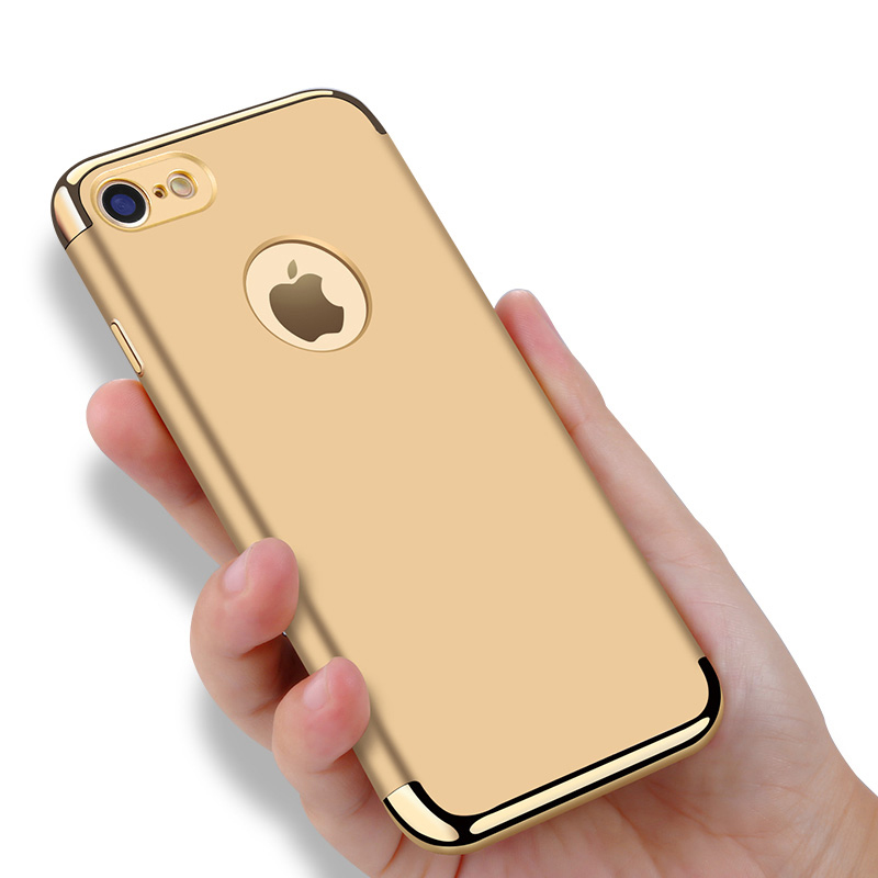 Vpower Plating Case para iphone 7 plus iphone 7 Case Gold Black - Accesorios y repuestos para celulares - foto 5