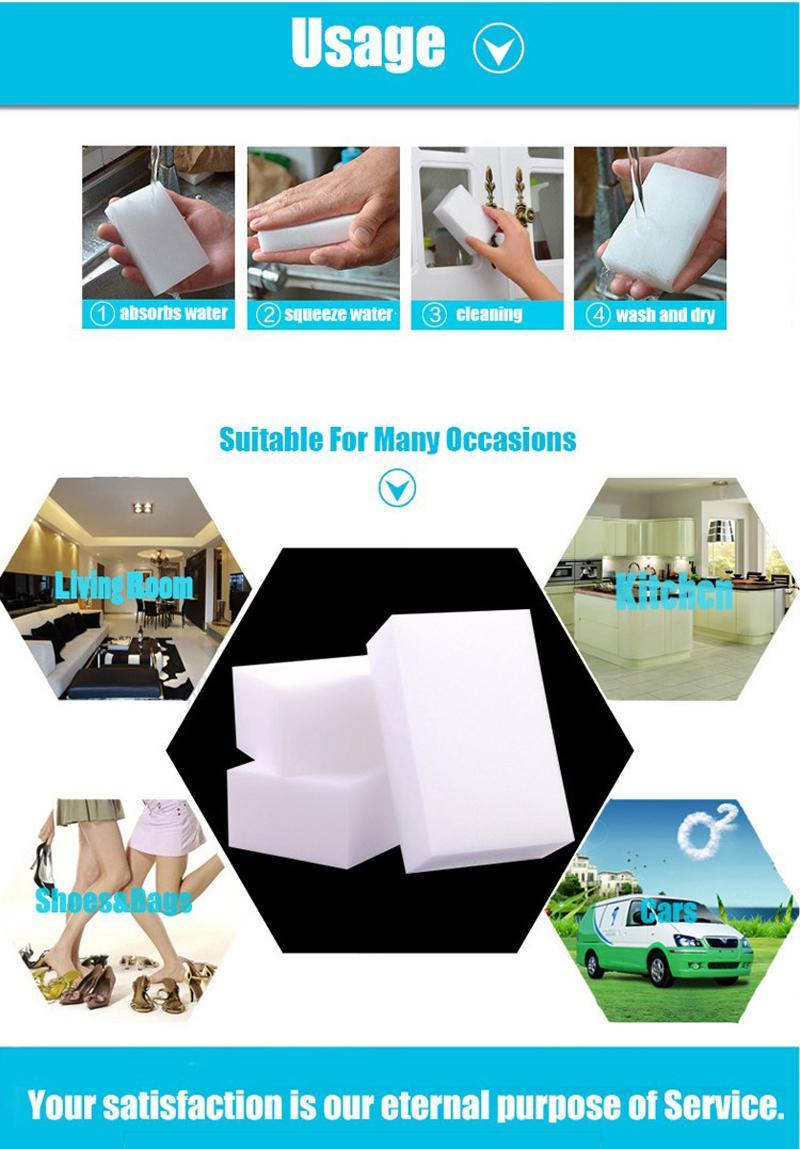 10*7*3cm magic clean melamine eraser,melamine sponge pad cleaner multi-functional kitchen assessoires dish washing sponge eraser