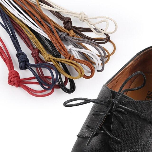 36905788a7e 90 cm Unissex de Algodão Encerado Rodada Cadarço cadarços de sapatos De  Couro À Prova D