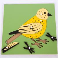 MamimamiHome Baby Toy Montessori Earlier Education Teaching Aids Animal Plant Panels Montessori Toys Wooden Puzzle