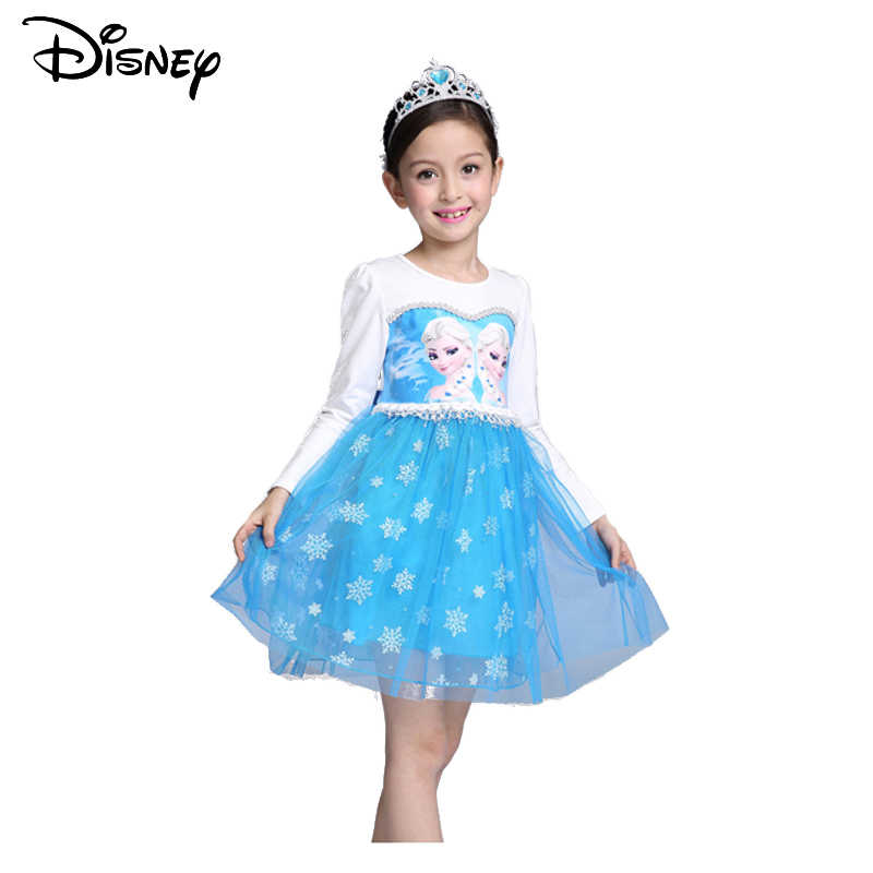 Disney Frozen Vestido Niñas Vestido último Algodón Doble
