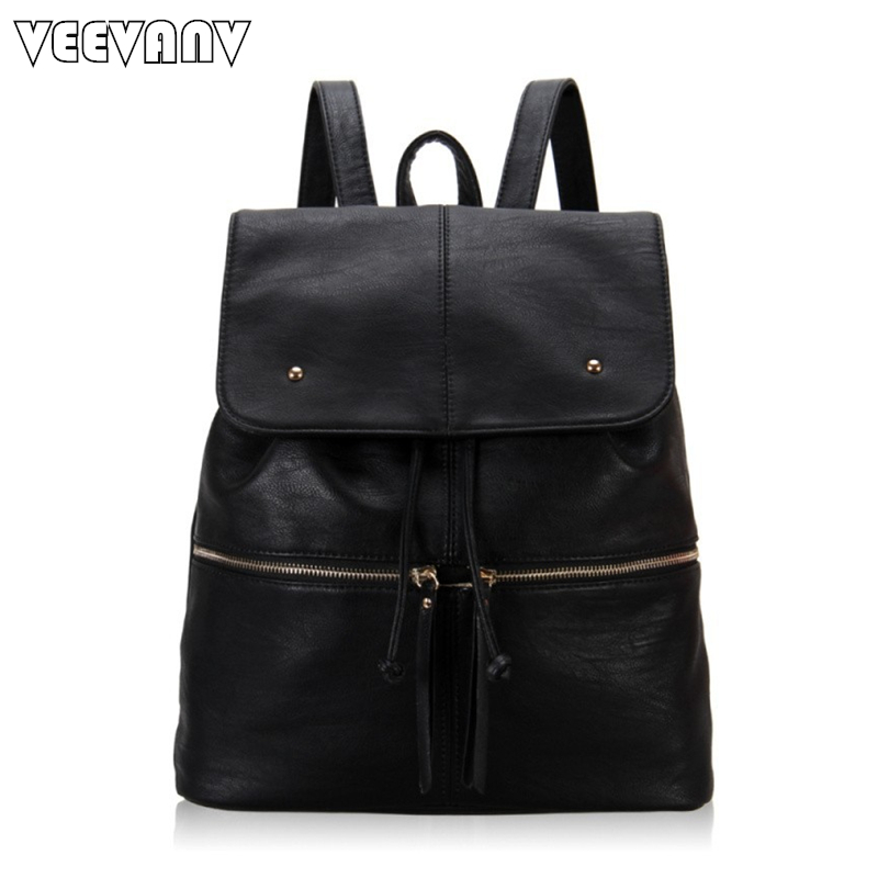 Popular Women Leather Backpack-Buy Cheap Women Leather Backpack ...