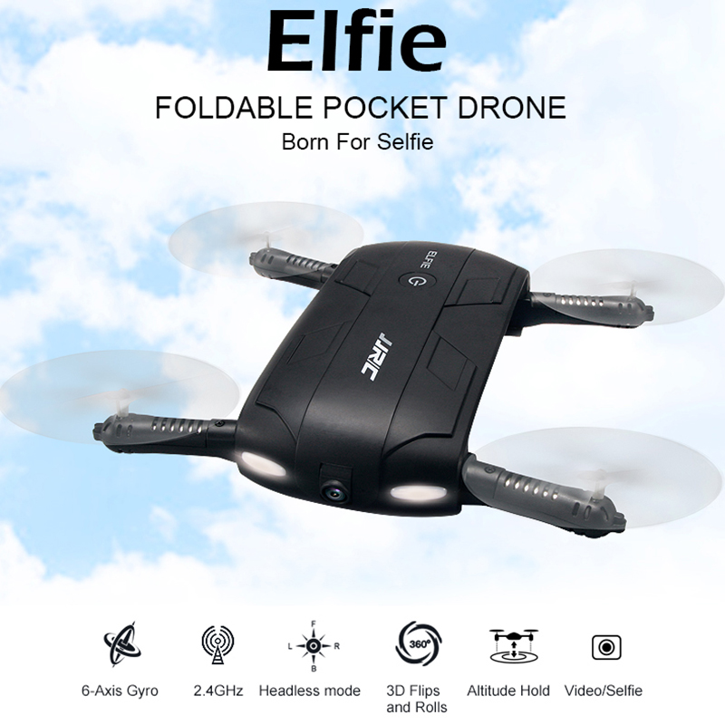2018 INKPOT Upgrade Rc Mini Faltbare Drone H37 Baby Elfie Micro Drone Mit 720 p Wifi FPV Kamera Selfie Tasche APP Control Eders