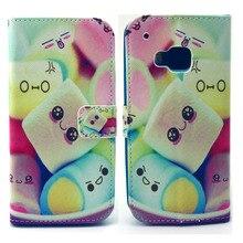Lindo sorriso Marshmallow projeto de couro Pu virar Magnet Wallet fique Pouch Case capa para HTC One M9 nova Hotsale