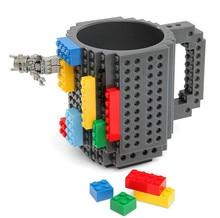 Neue Kreative 9 farben Bauen-Auf Ziegel Becher Lego Art Bausteine Kaffeetasse DIY Block Puzzle Becher Mit blöcke ungiftig