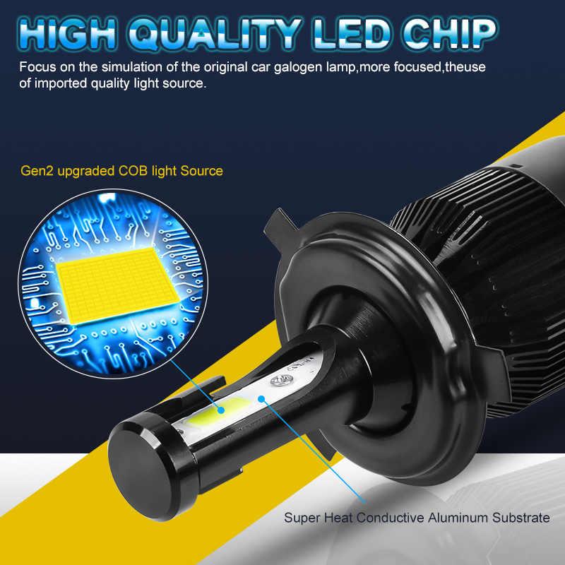 RACBOX 72w LED Car Headlight Super Bright H1 H3 H7 H4 H8/H9/H11 H13 9005 HB3 9006 HB4 9004 9007 9012 880 881 5202 Fog Bulb Lamp