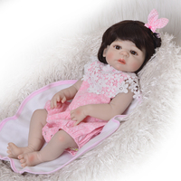 Bebe Boneca reborn menina 57cm full body Silicone reborn Baby Doll Girl Newbron Lifelike Princess Doll Birthday Girl toys